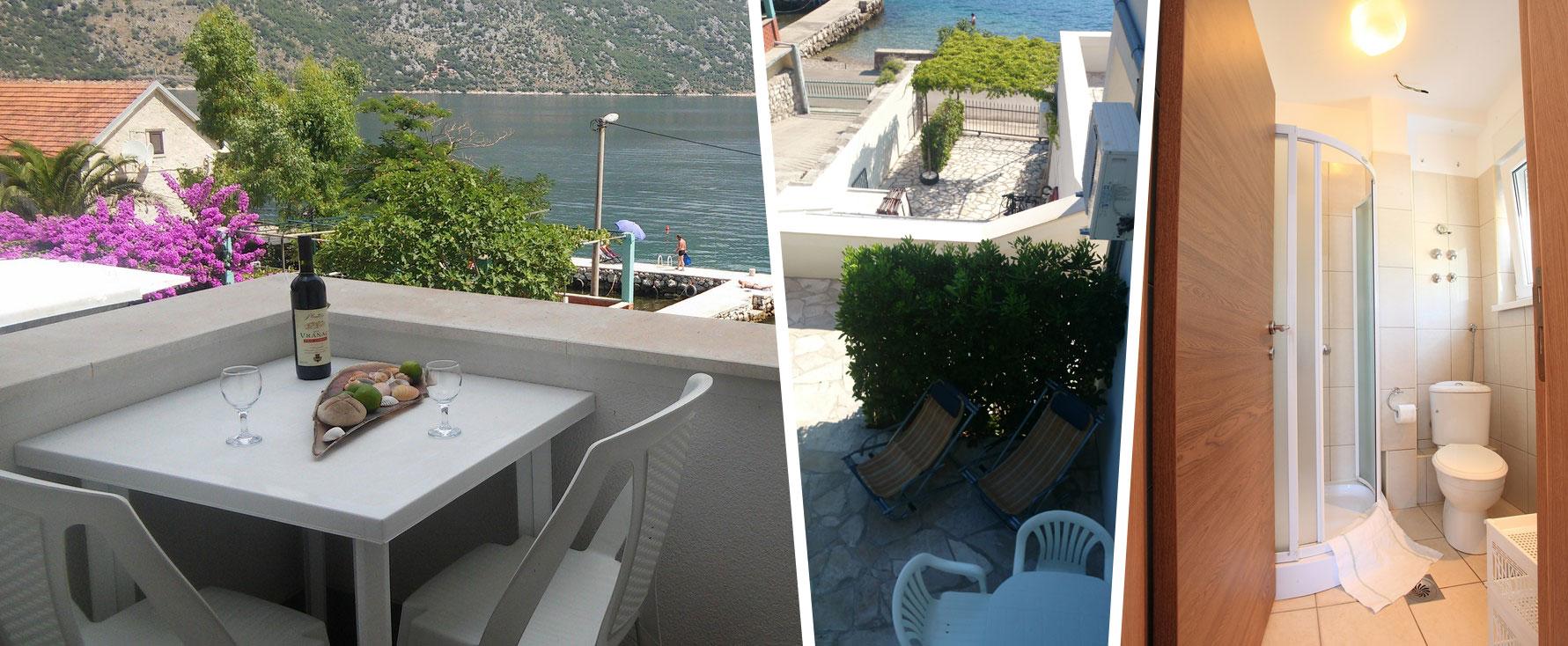 Apartmani za izdavanje sa pogledom na Boko Kotorski zaliv